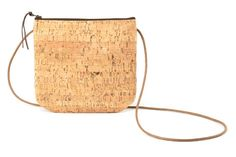 Genuine Cork Purse/ Small cork bag with zipper and waxed canvas strap/ crossbody bag on Etsy, $50.40