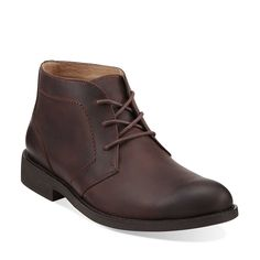 Burns Hot in Brown Leather - Mens Boots from Clarks
