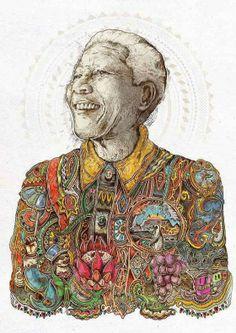 Graphic Art : Tribute to Nelson Mandela around the world Nelson Mandela, Mandela Art, Mandela Quotes, South African Art, Amazing Drawings, Art Plastique, Illustration, Graphic Art, Design Art