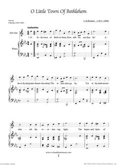 Christmas Sheet Music Carols for alto saxophone and piano, collection 3
