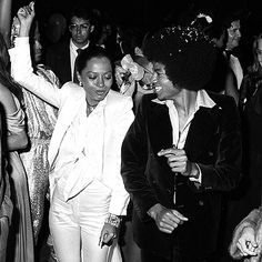 Diana Ross and Michael Jackson at Studio 54...timeless picture
