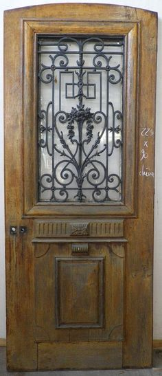 E1VA14 PORTE D'ENTREE UN VANTAIL EN CHENE … Deco, Entry Doors, Bathroom Redo, Front Door, Doors, Home Decor
