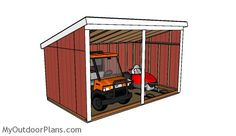 This step by step diy project is about run in shed plans. This loafing shed is very versatile, as it can shelter your ATV, your tools or even outdoor furniture. 8x12 Shed Plans, Free Shed Plans, Build A Playhouse, Wooden Playhouse, Indoor Playhouse, Wooden Pergola, Metal Pergola, Pergola Plans, Pergola Kits