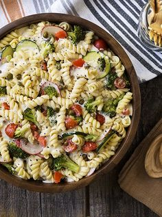Substitute with your favorite veggies in this Cold Pasta Primavera Salad Recipe! Add 1 cup of Hidden Valley's seasoning mix for a zesty kick, and celebrate with America's favorite ranch this 4th of july!