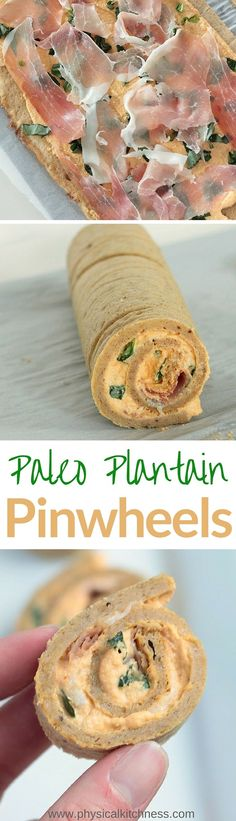 These dairy-free, gluten-free, grain-free paleo pinwheels are the big hit at your next party! Sweet plantain tortillas combined with savory roasted red pepper cashew cream, basil, and prosciutto are the perfect paleo appetizer everyone will love. Whole30 compliant too!