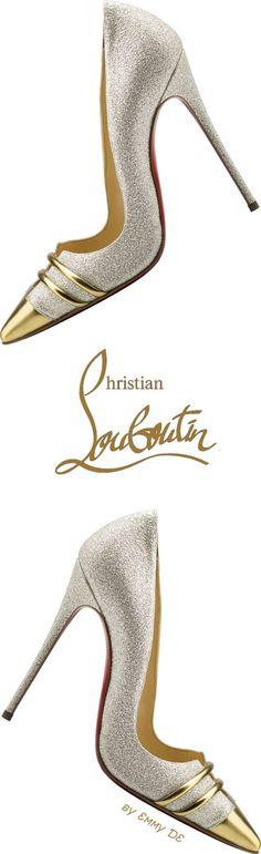 Emmy DE * Christian Louboutin 2015 #jimmychooheelschristianlouboutin #christianlouboutingold