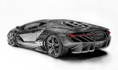 This is my pencil drawing of the new Lamborghini Centenario. I'm still having a tough time spelling the name! The drawing took about 10 hou. Challenger Rt, Lamborghini Centenario, Today Show, Car Brands, Drawings, Vehicles, Sasuke, Naruto, Tattos