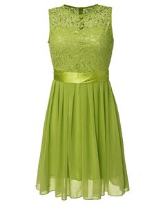 Plus Size S-5XL New  Women Summer Lace Party Dress Sleeveless Elegant Chiffon Princess Knee Length Dresses Vestido De festa - Green, M Oh just take a look at this! Visit us