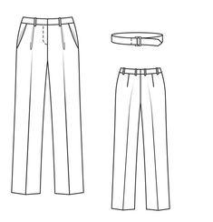 Брюки - выкройка № 103 из журнала 4/2013 Burda – выкройки брюк на Burdastyle.ru