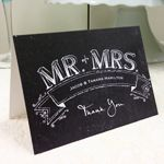 Wedding Favors & Party Supplies - Favors and Flowers :: Wedding Stationery :: Thank You Cards :: Mr.  Mrs. Chalkboard Thank You Cards - 25 pcs