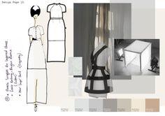 Fashion Portfolio - fashion design exploring the theme of light - fashion drawing; dress design; fashion sketchbook // Emilie Hale
