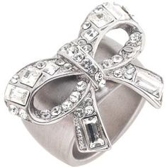 Chanel Crystal Bow Ring