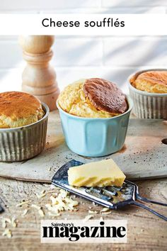 Soufflés always impress but start from quite basic cooking skills. This cheese soufflé recipe begins with an easy all-in-one white sauce, using rapeseed oil rather than butter. You can also bake this as a larger sharing soufflé; simply cook for 35-45 minutes. Get the Sainsbury's magazine recipe Dinner Party Starters, Cheese Souffle, Sticky Toffee Pudding, Roasting Tins, Potato Skins, Sainsburys, Food Trends, Cookies Ingredients, Cheese Recipes