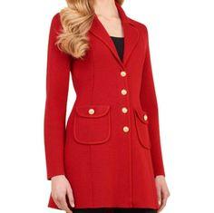 Luisa Spagnoli Manola Red Wool Jacket