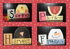 reversible wood projects - turn it over and you have a different season