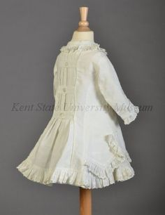 Girl's cotton pique dress, 1870s. (Collection of the Kent State University Museum, 1983.1.146)