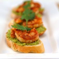 Spicy Shrimp and Avocado Crostini
