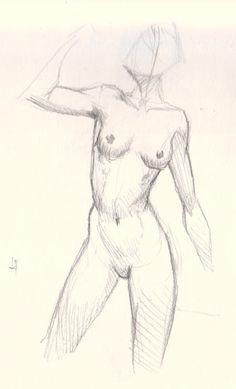 draw female figure study 01 How to draw woman body basic