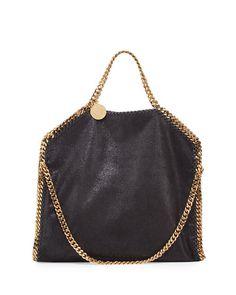 Falabella Fold-Over Tote Bag, Black