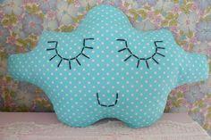 embroidered cloud pillow by bang bang