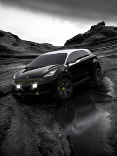 The Kia Niro, a small urban crossover SUV designed by Kia's European operation, was shown at the Frankfurt Auto Show, where Kia says it is testing public reaction for a possible future product. Kia Motors, Kia Rio, Nissan Juke, Compact Suv, Car Wallpapers, Future Car, Frankfurt, Luxury Cars, Cool Cars