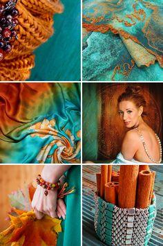 Handmade items set, see more: http://www.livemaster.ru/gallery/1523999  «Рыжая» — коллекция предметов ручной работы #handmade #art #design
