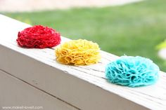 fabric flowers #diy #flowers