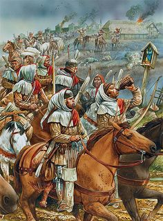 """""""A column of mounted archers on chevauchée"""""""