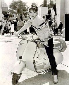 Elsa Martinelli on a Vespa, 1950s