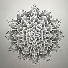 Best Geometric Tattoos And Symbolism Dot Tattoos, Dot Work Tattoo, Flower Tattoos, Sleeve Tattoos, Dot Work Mandala, Flower Mandala, Mandalas Drawing, Design Tattoo, Wolf Tattoo Design