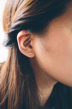 Curved Arrow Ear Pins Earrings by Lovoda on Etsy https://www.etsy.com/listing/254116468/curved-arrow-ear-pins-earrings