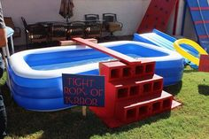 35 Ideas backyard party games obstacle course - All For Garden Wipeout Birthday, Wipeout Party, Nerf Birthday Party, Ninja Birthday, Nerf Party, Spy Party, Ninja Party, 7th Birthday, Birthday Ideas