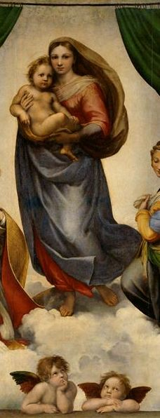 By Raphael, 1512/13, Madonna, The Sistine      Old Masters Picture Gallery.