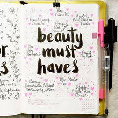 What are your beauty must-haves? I'm partial to the Benefit line (I think it's because I'm a sucker for pretty packaging ). I'm still on the lookout for the perfect mascara and eyeliner, so I'd love any recommendations. #hobonichi #journal...