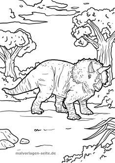 Malvorlage Tyrannosaurus Rex Malvorlagen Ausmalbilder Pinterest