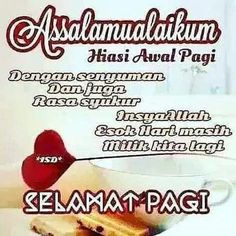Image may contain: food and text Morning Love Quotes, Night Quotes, Me Quotes, Muslim Quotes, Islamic Quotes, Muslim Greeting, Forever Living Products, Islamic Pictures, Alhamdulillah