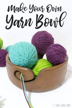 Cool Woodworking Projects Yarn Bowls are popular; make your own DIY Yarn Bowl from a wooden Thrift Store bowl. Woodworking Projects Yarn Bowls are popular; make your own DIY Yarn Bowl from a wooden Thrift Store bowl. Woodworking For Kids, Easy Woodworking Projects, Woodworking Jigs, Woodworking Beginner, Unique Woodworking, Woodworking Techniques, Woodworking Furniture, Thrift Store Crafts, Crafts To Sell