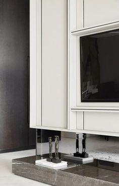 Classic Interior, French Interior, Luxury Interior Design, Modern Interior, Feature Wall Design, Tv Panel, Joinery Details, Tv Unit Design, Build A Closet