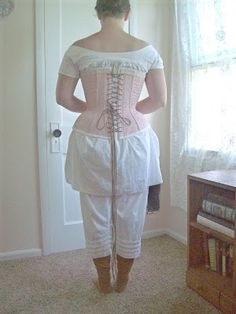 Ladies undergarments of the mid-19th century might seem overwhelming at first. I know I was overwhelmed - it seemed like so much more than I...