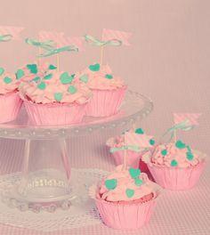 Cupcakes de Nesquik de fresa (y de nuevo a vueltas con el washi tape)