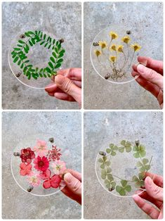 House warming gift / Dried flower pressed flower coaster / acrylic transpatent coaster / Wedding favours/ Gift for bridesmaid / gift for her Diy Resin Art, Diy Resin Crafts, Diy Art, Cd Diy, Diy Décoration, Cd Crafts, Flower Crafts, Cd Wall Art, Vinyl Record Art