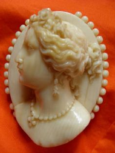 Victorian Carved Ivory Cameo