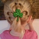 St. Patrick's Day hair