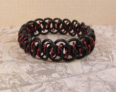 Shenanigans Stretch Bracelet in Black & Red - Edit Listing - Etsy