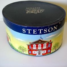 Stetson Vintage Hat Box. Wish my hat would fit into one of these vintage boxes...but it is not to be...but love my hat.