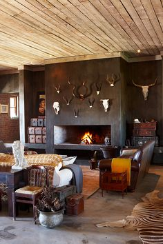 rustic stanford retreat - complete with nguni cattle, goats, sheep & chickens roaming the space, this contemporary country home in stanford in the western cape (south africa) is the perfect place for an artist and her family to relax! House Design, New Homes, Retreat House, Rustic Retreat, Decor, House, Contemporary Country Home, Home Decor, Built In Braai