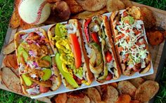 A Bachelor  His Grill's Backyard BBQ Hero 101: ALL-Star Grilled Hotdogs of Major League Baseball - Bleacher Seats, BIG Ice Cold Brewski  Crazy Amazing Grilled Dogs!  Leave Ketchup  Mustard @ Home Plate because these Recipes are a HOME RUN!!!! Video Link  Original Recipe from
