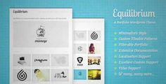 Download and review of Equilibrium: Clean and Modern WP Portfolio Theme, one of the best Themeforest Creatives themes {Download & review at|Review and download at} {|-> }http://best-wordpress-theme.net/equilibrium-clean-modern-wp-portfolio-download-review/
