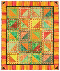 Tangerine Summers quilt, in:  Quilt Batik by Cheryl Brown