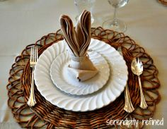 Easter Bunny Folded Napkin Tutorial by Serendipity Refined
